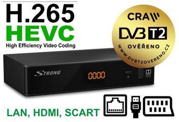 STRONG SRT8211 DVB-T2 OVĚŘĚNO, HEVC H.265, LAN, HD
