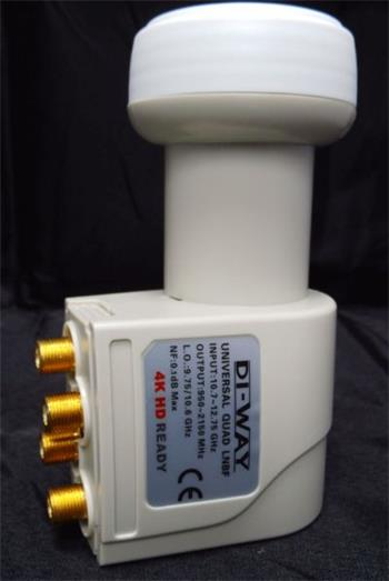 DI-WAY LNB QUAD 0,1dB Gold konektory F