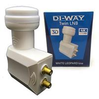 DI-WAY LNB TWIN 0,1dB, WHITE LEOPARD LINE