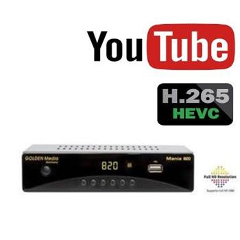 GOLDEN MEDIA MANIA 820, DVB-T2 Full HD HEVC H.265