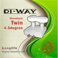 LNB TWIN MONO DI-WAY 0,1dB 4,3st